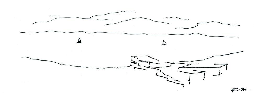 草图,槇文彦绘制(版权所有:槇综合计画事务所) Sketch by Fumihiko Maki©Maki and associates