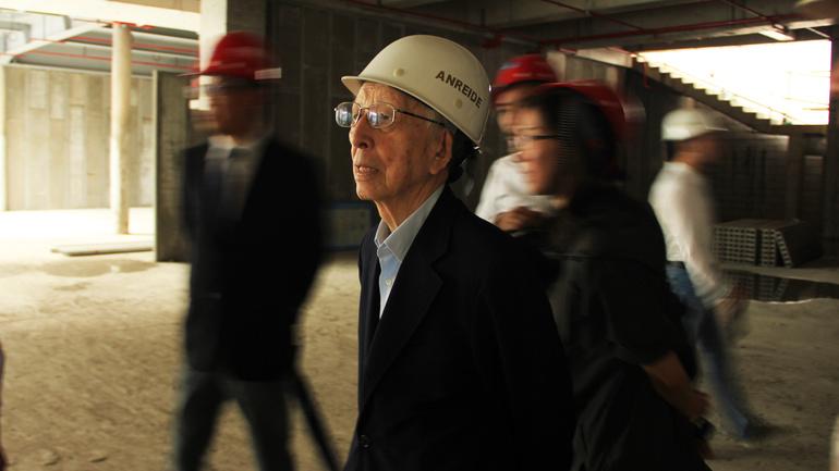 2016年9月20日_槇文彦先生在海上世界文化艺术中心工地现场