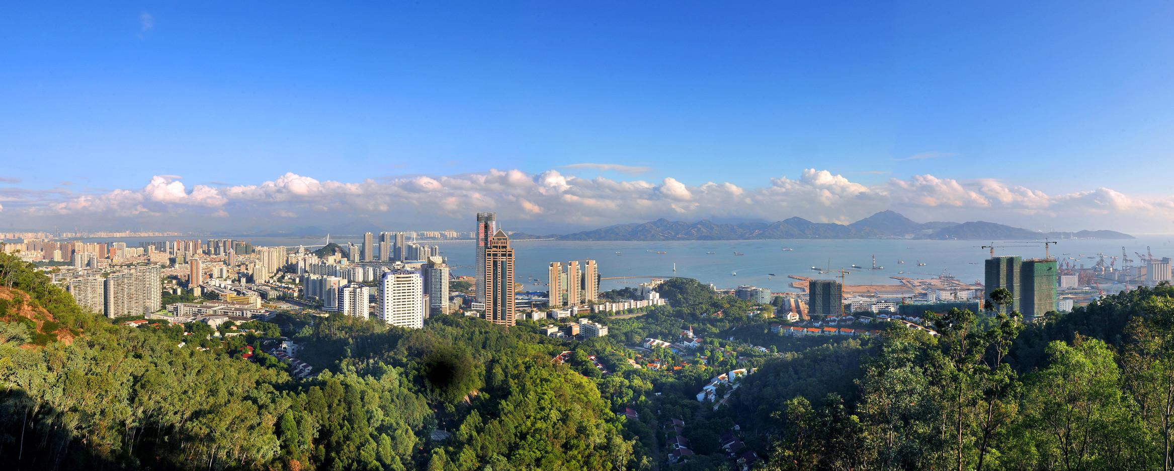 蛇口全景图(版权所有:设计互联)Panaroma View of Shekou@Design Society