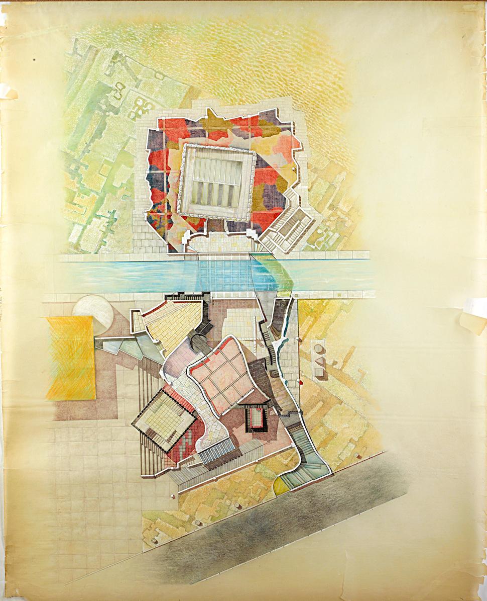 17.儿童之屋手稿(巴黎La-Villette项目)-#2Sketch-for-Maison-Des-Enfants-(Project-for-La-Villette,-Paris)-#2